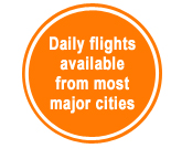 Flights for most major cities
