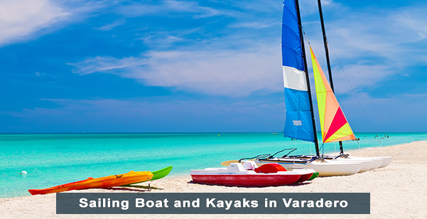 Sailing Boat and Kayaks in Varadero Beach