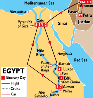 Jordan Egypt Tour Jordan Tours Jordan Vacations Jordan - Map of egypt israel jordan