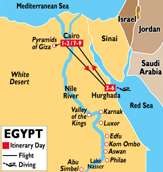 Red Sea Diving Hurghada Tours Diving In Hurghada Egypt - Map of egypt red sea area