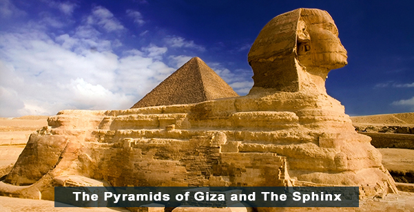 The Sphinx and the Great Pyramids