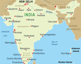 India tour india holidays india vacations india packages india map gumiabroncs Image collections
